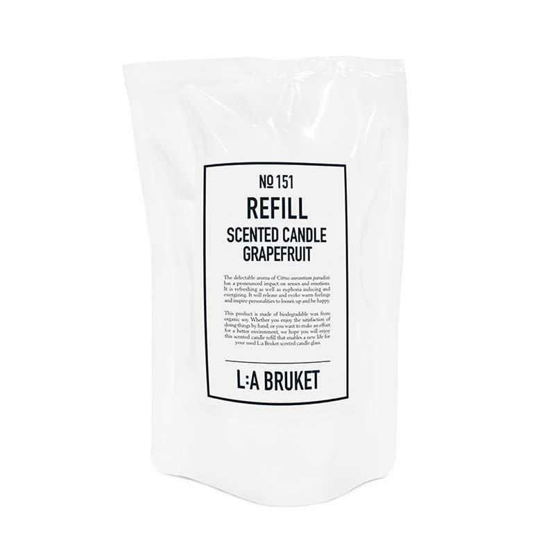 L:a bruket L:a bruket refill scented candle grapefruit fra livingshop
