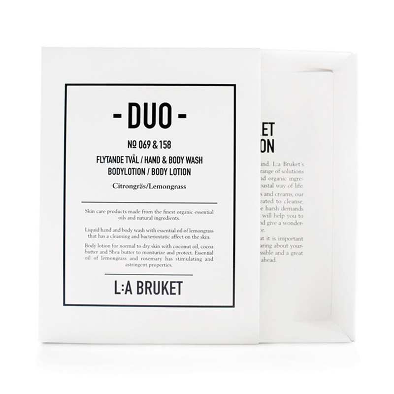 L:a bruket duo kit 1 soap & bodylotion lemongrass fra L:a bruket på livingshop