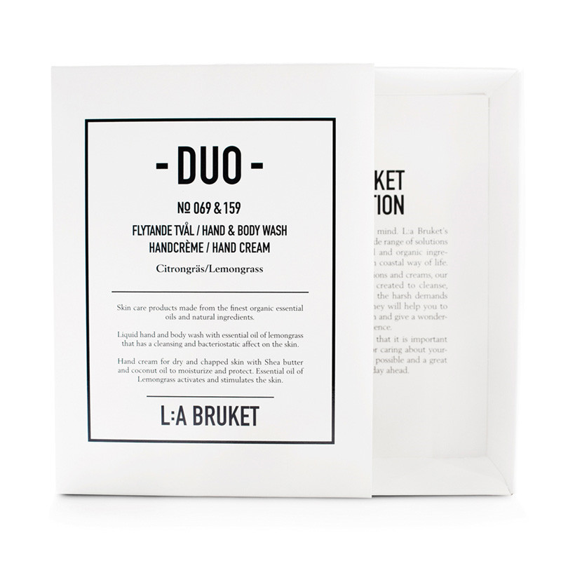 Image of   L:A Bruket Duo Kit Soap & Handcreme Lemongrass