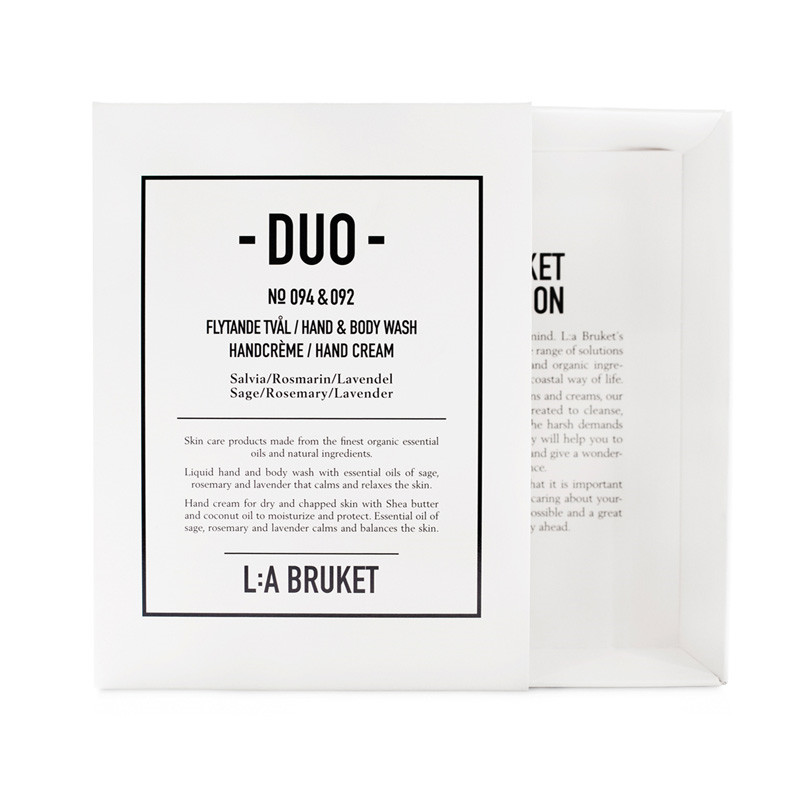 Image of   L:A Bruket Duo Kit Soap & Handcreme Salvie, Rosmarin & Lavendel