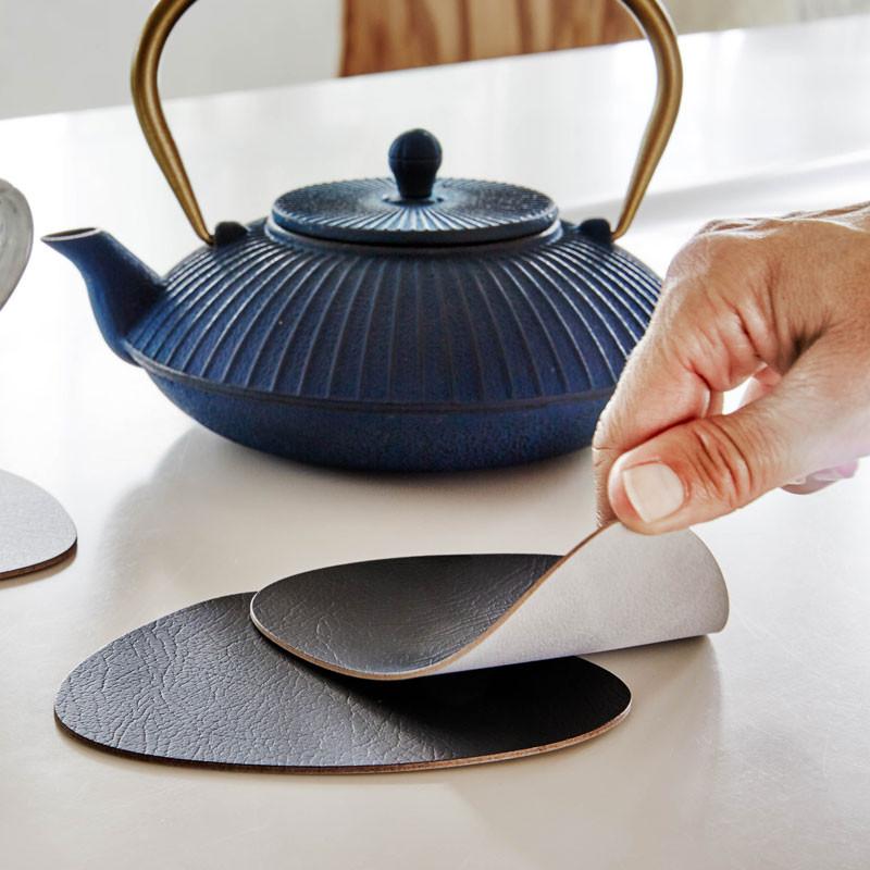 Linddna glassmat curve double bordskåner