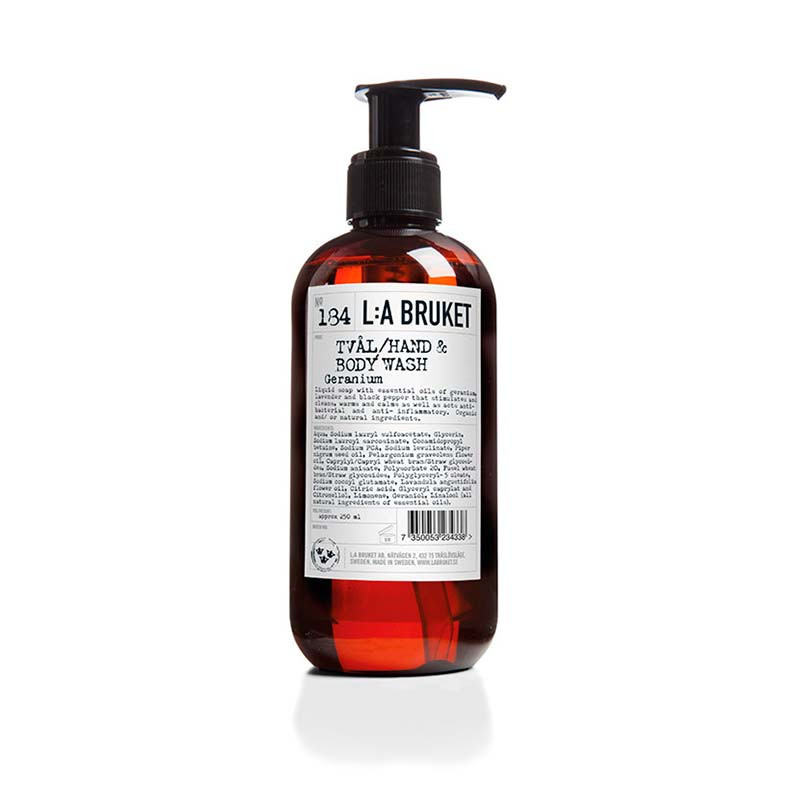 L:a bruket – L:a bruket liquid soap geranium 250 ml på livingshop