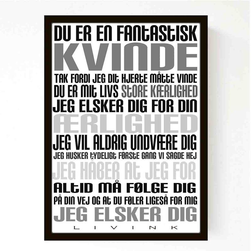 Image of   Livink Kvinde Plakat