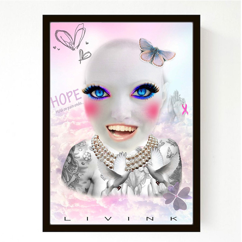 Image of   Livink Plakat No Hair Girl