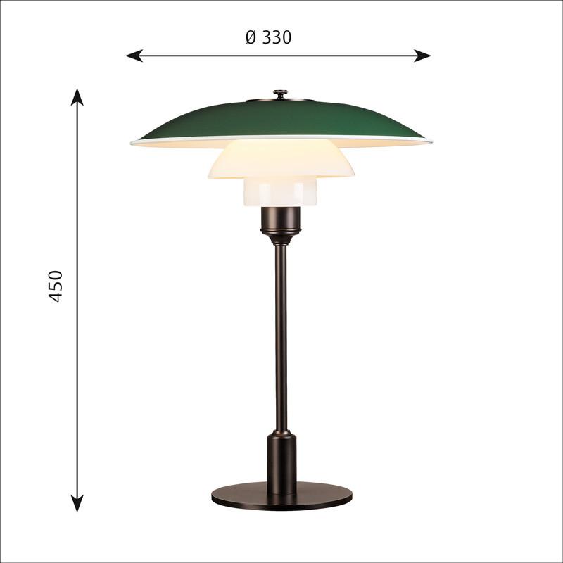 louis poulsen ph 3 2 bordlampe. Black Bedroom Furniture Sets. Home Design Ideas
