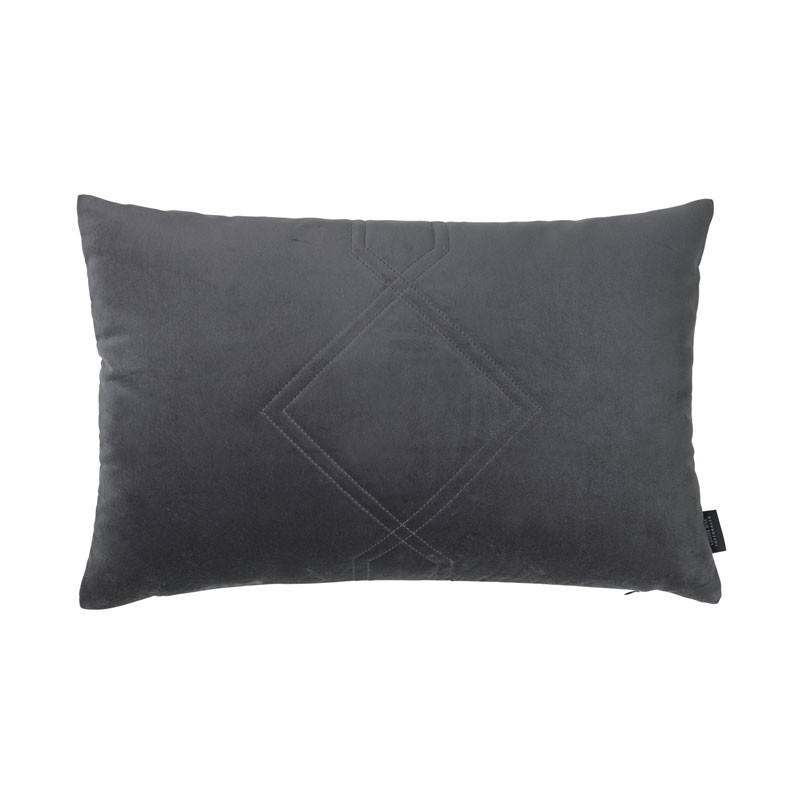 Image of   Louise Roe Diamond Quiltet Cushion Grey