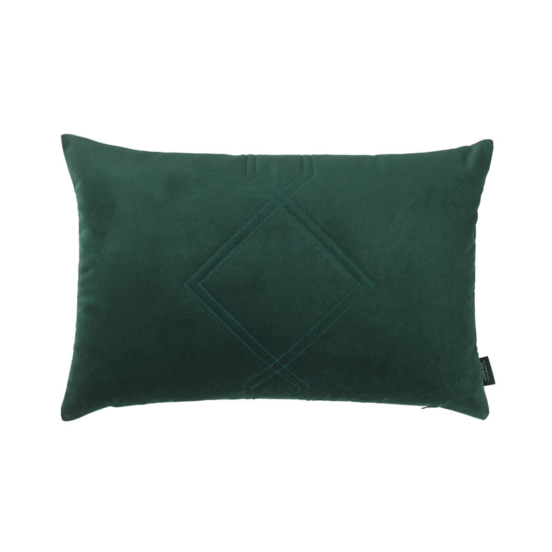 Louise roe diamond quiltet cushion green