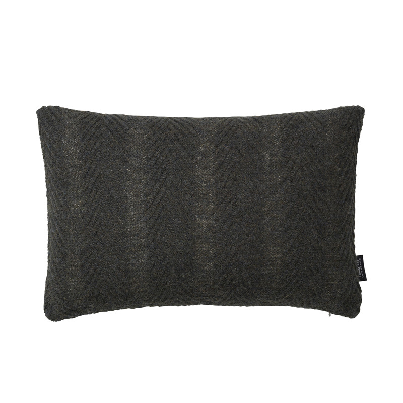 Image of   Louise Roe Herringbone Cushion Army Green