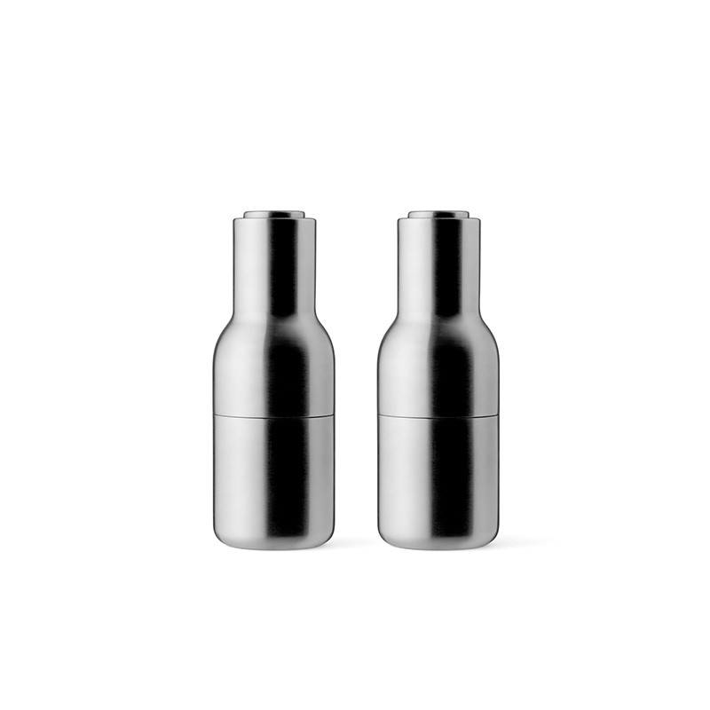 Image of   Menu Bottle Grinder Brushed Stainless Steel