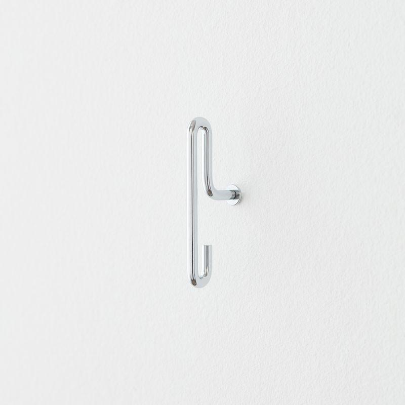Image of   Moebe Wall Hook Small Chrome 2-pak