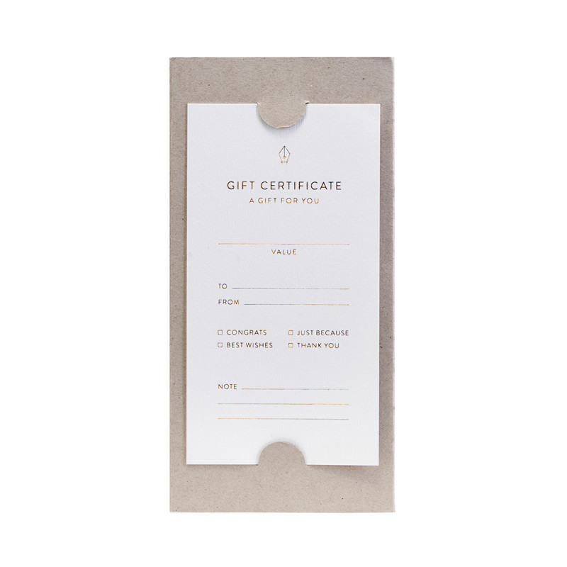 Image of   Monograph Gift Certificates Note Cards