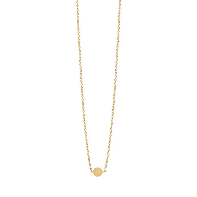 Image of   Enamel Copenhagen Coin Necklace Gold-Plated