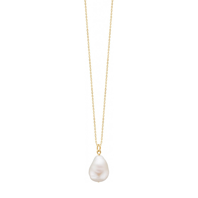 Image of   Enamel Copenhagen Baroque Pearl Necklace Gold-Plated