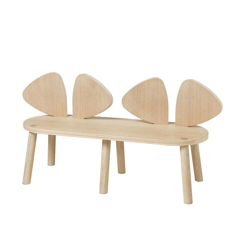 Nofred mouse bench 2-5 years oak