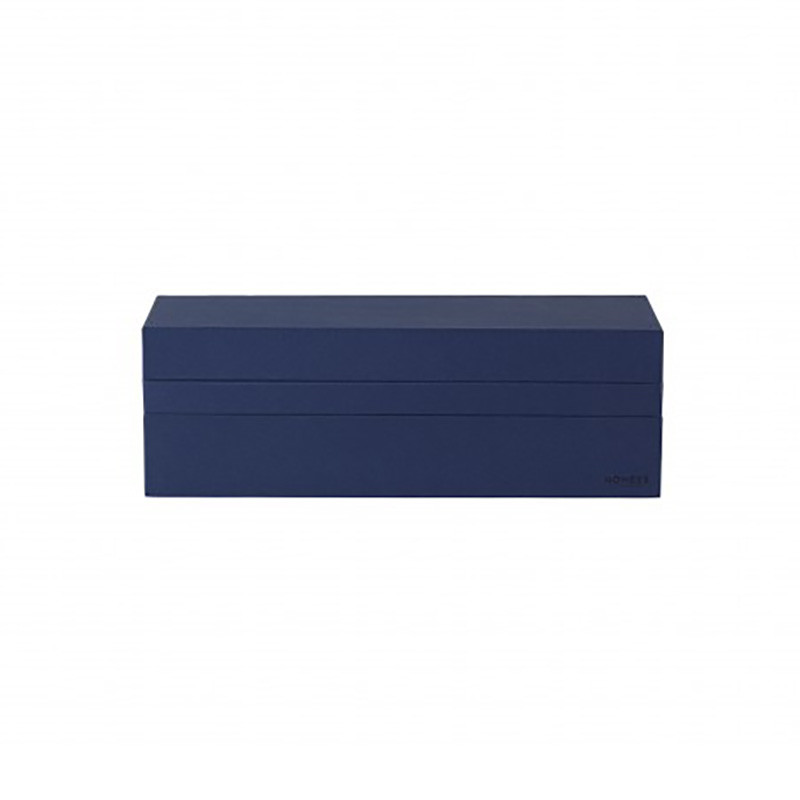 Nomess – Nomess rectangular tray box dark blue fra livingshop