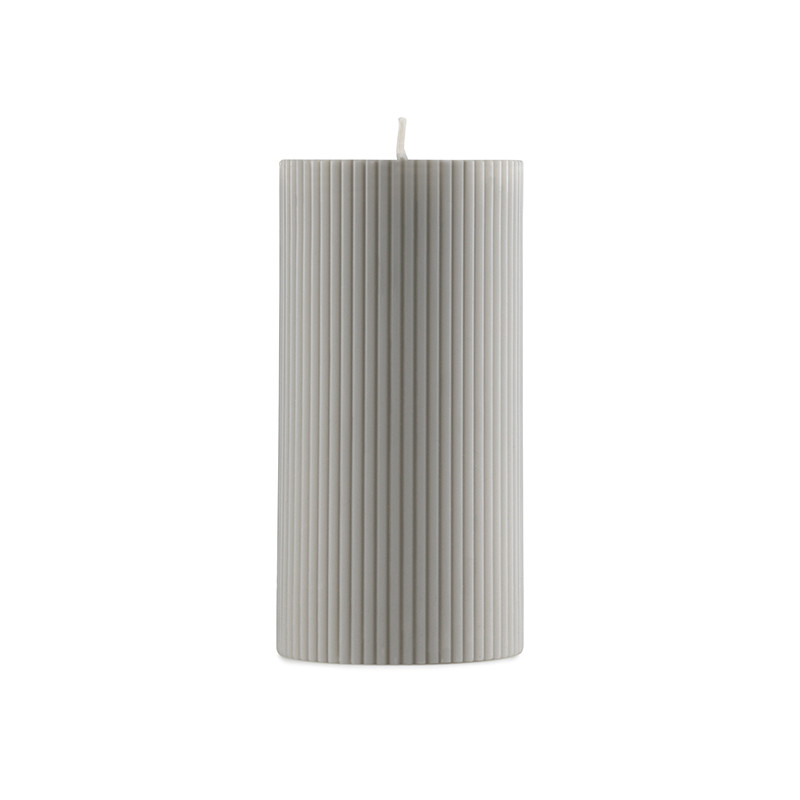 Image of   Normann Cph Grooved Block Candle Grey