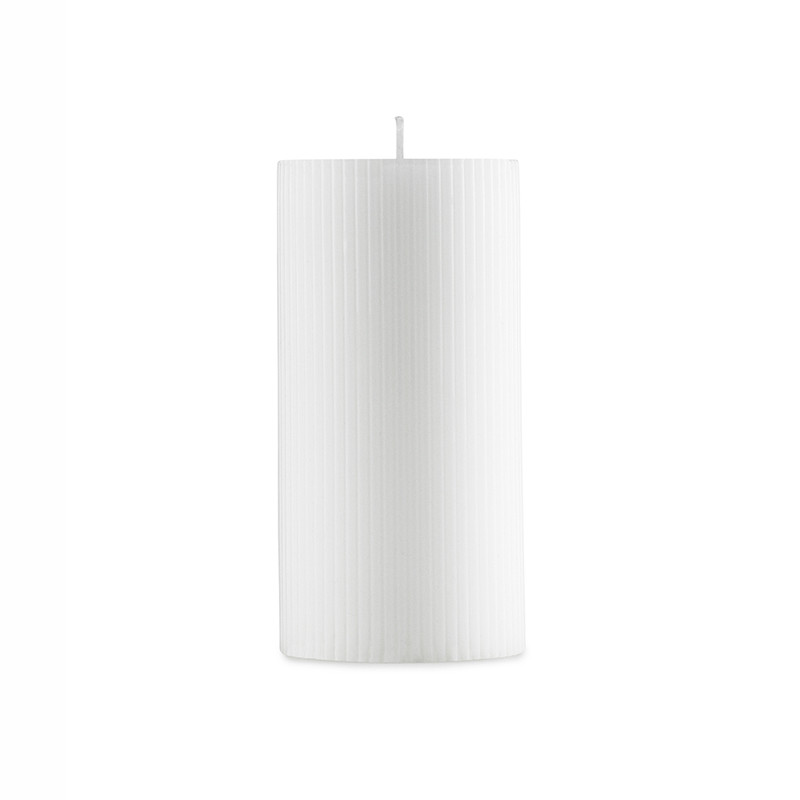 Image of   Normann Cph Grooved Block Candle White