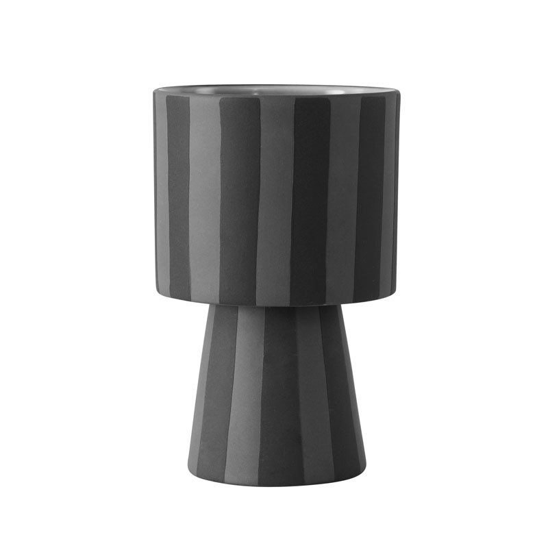Image of   OYOY Toppu Pot Black/Grey Small