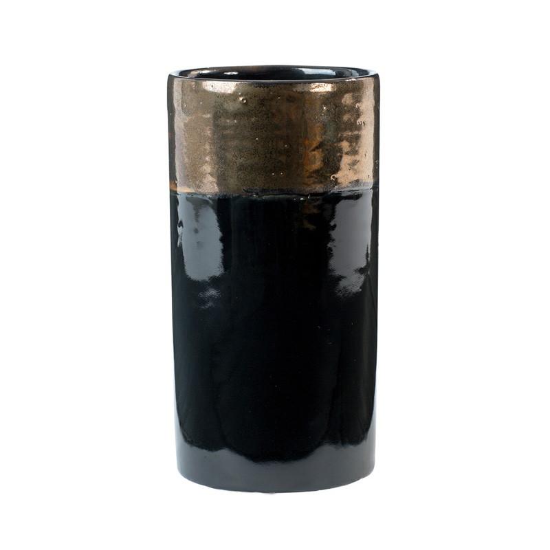 Oi soi oi Oi soi oi ceramic vase shiny black på livingshop