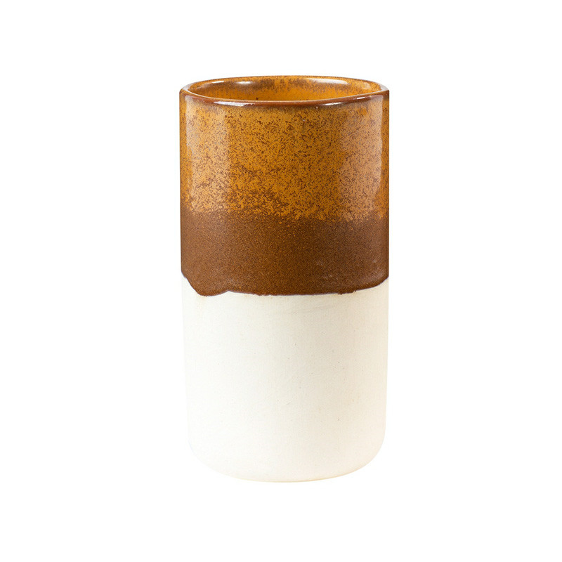 Oi soi oi – Oi soi oi ceramic vase half glaze på livingshop