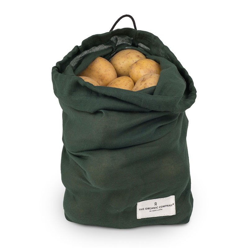 The organic company food bag dark green large