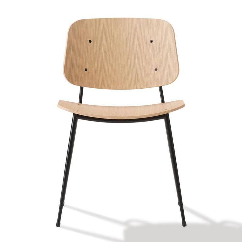 Fredericia Furniture 3060 Søborg Stol Stålstel fra PP Møbler