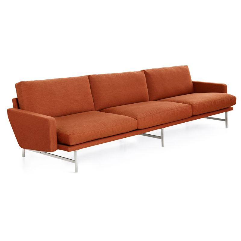 Fritz hansen pl113 lissoni sofa 3-pers stof