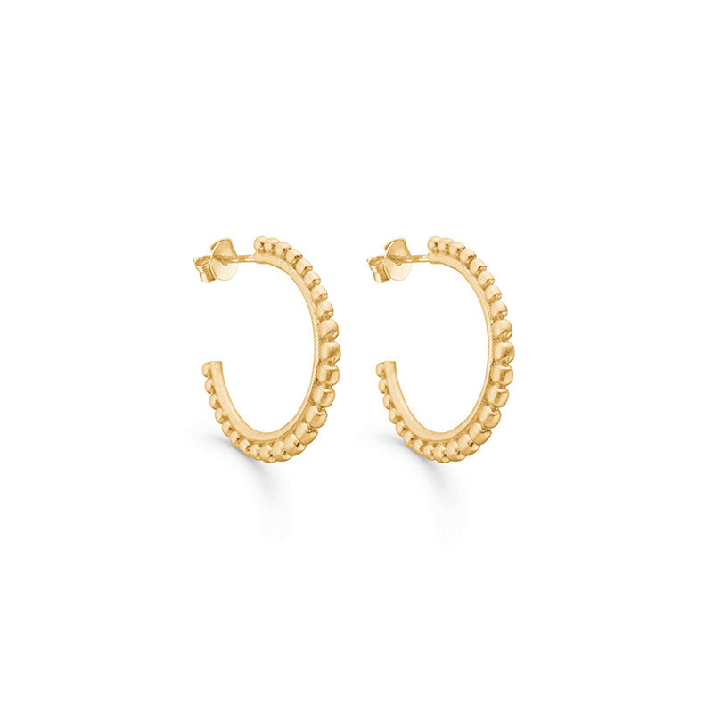 Image of   Enamel Copenhagen Berries Hoops Gold-Plated