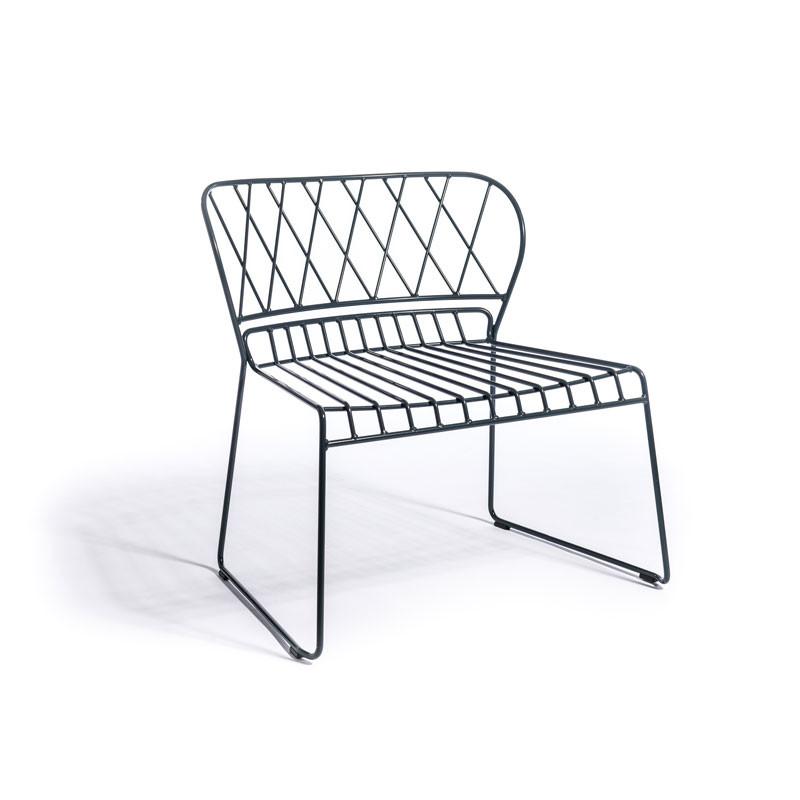 Skargaarden Resö Lounge Chair Charcoal Grey fra Skargaarden