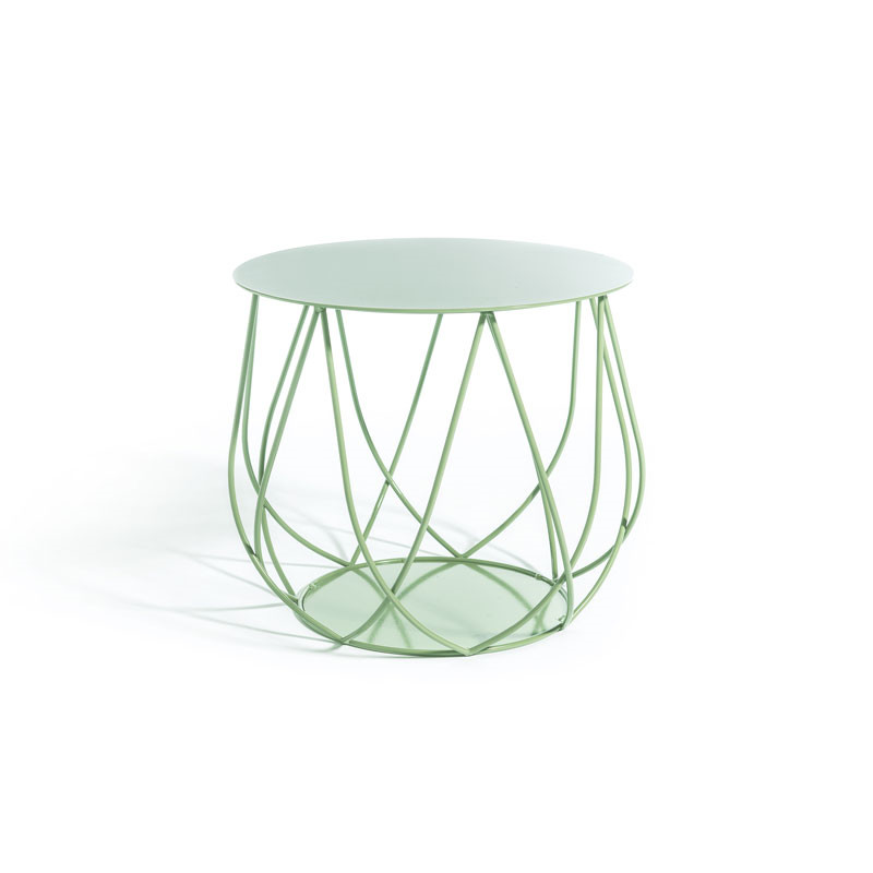 Image of   Skargaarden Resö Lounge Table Crossed Bars Light Green