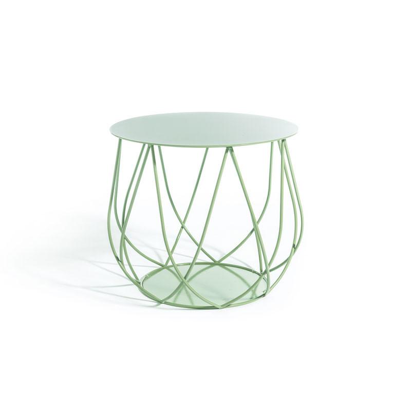 Skargaarden Resö Lounge Table Crossed Bars Light Green fra Skargaarden