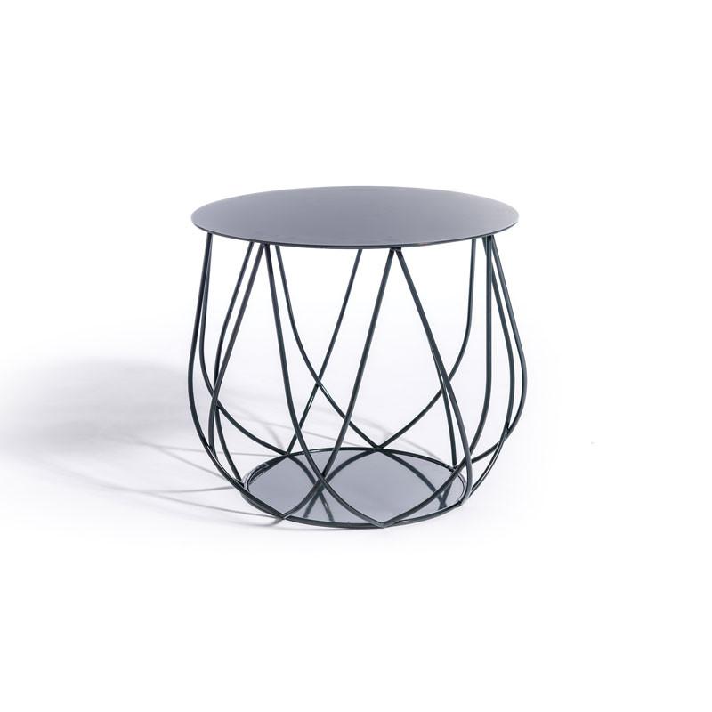 Skargaarden Resö Lounge Table Crossed Bars Charcoal Grey fra Skargaarden