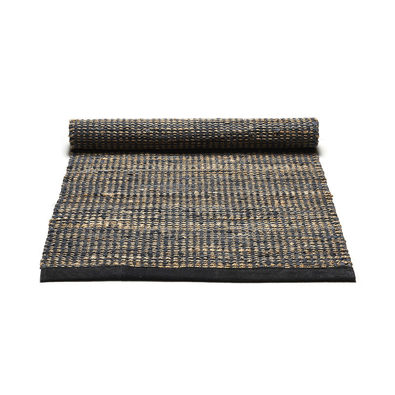 Rug Solid Graphite Jute Rug Large