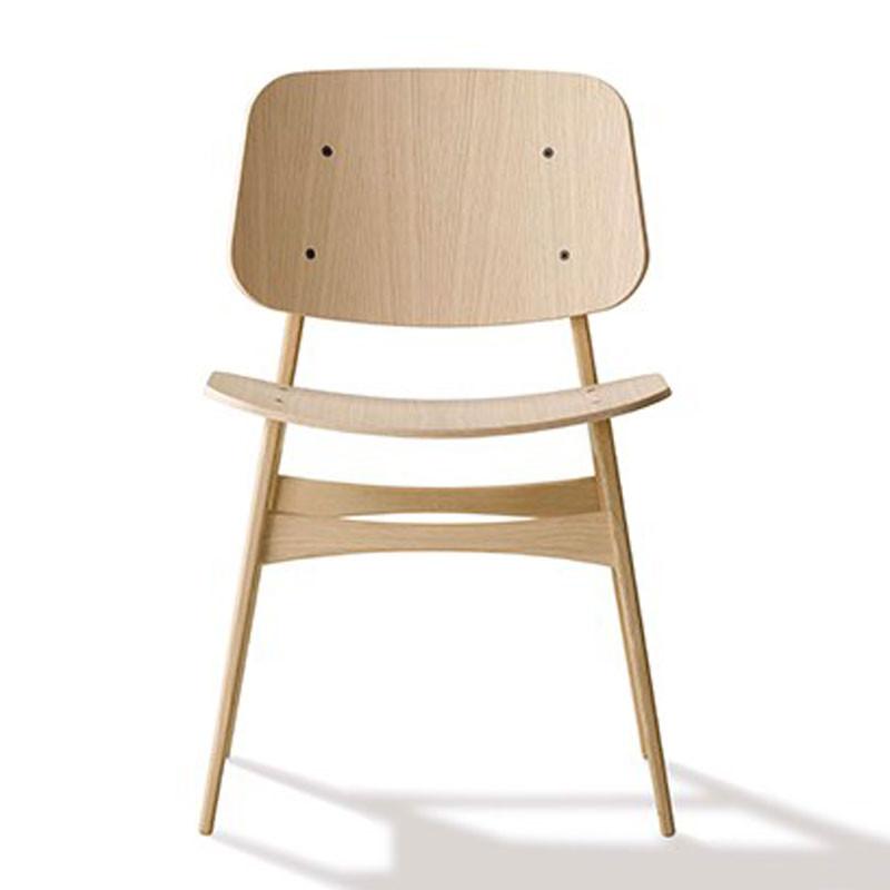 Fredericia furniture – Fredericia furniture 3050 søborg stol med træstel på livingshop