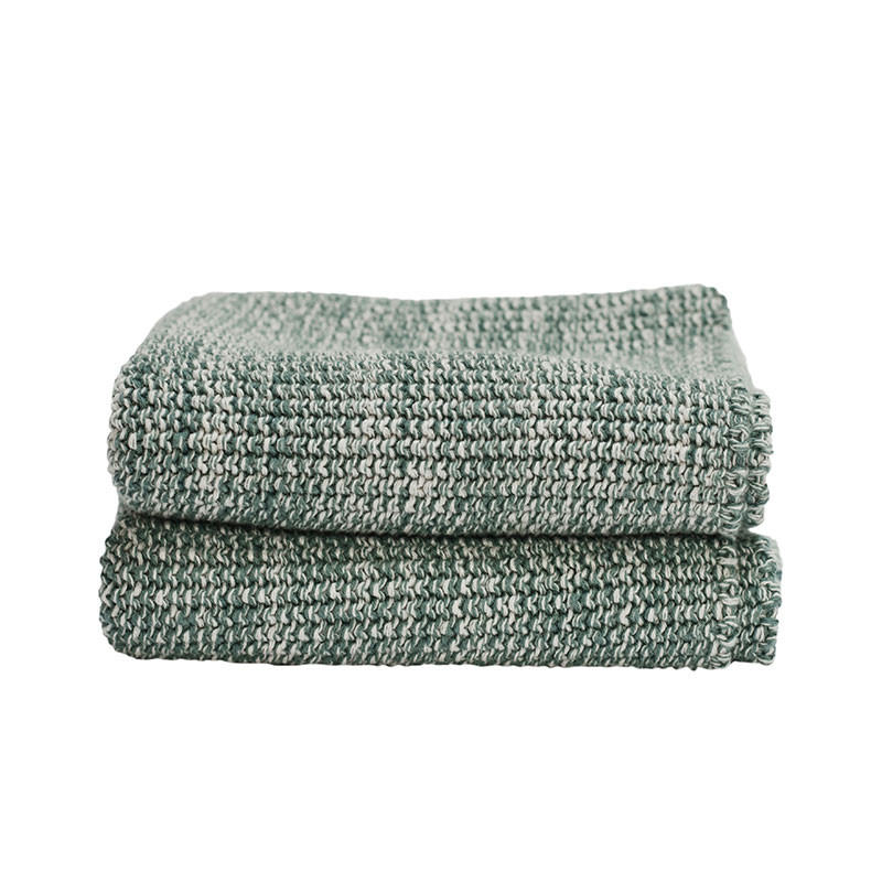 Image of   Semibasic HAND Knit Towel Green