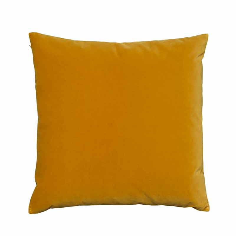 Image of   Semibasic LUSH Velour Cushion Ochre 45 x 45