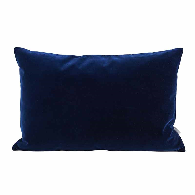 Image of   Semibasic LUSH Velour Cushion Blue 40 x 60