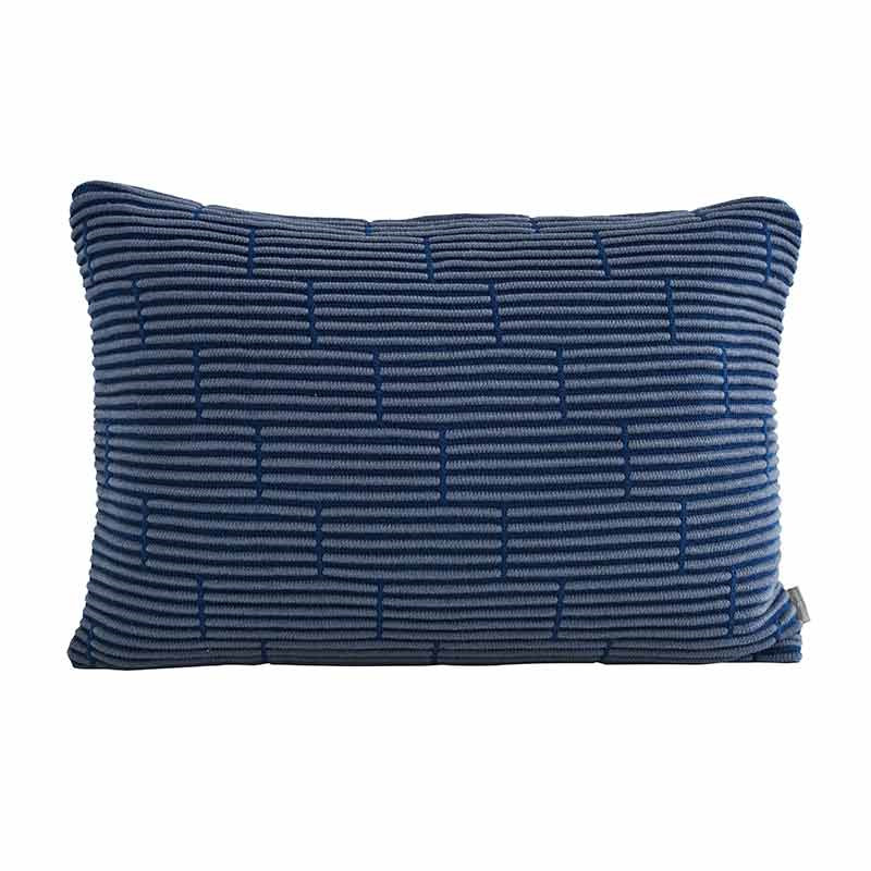Image of   Semibasic STILL Wall Cushion Dusty Blue Brick 40 x 60