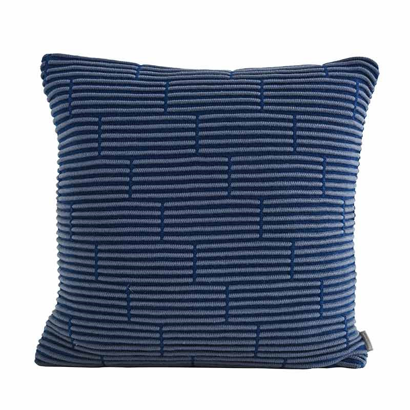 Image of   Semibasic Still Wall Cushion Dusty Blue Brick 50 x 50