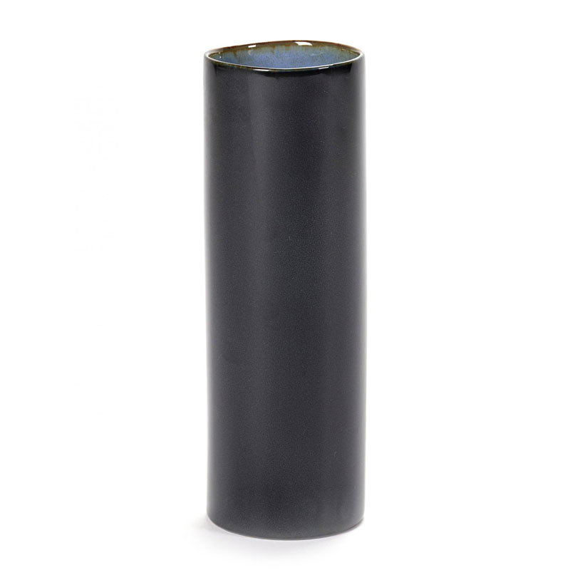 Serax anita tube vase dark blue