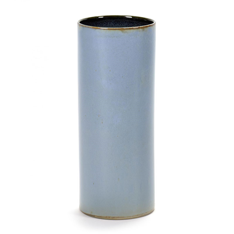 Serax anita tube vase smokey blue