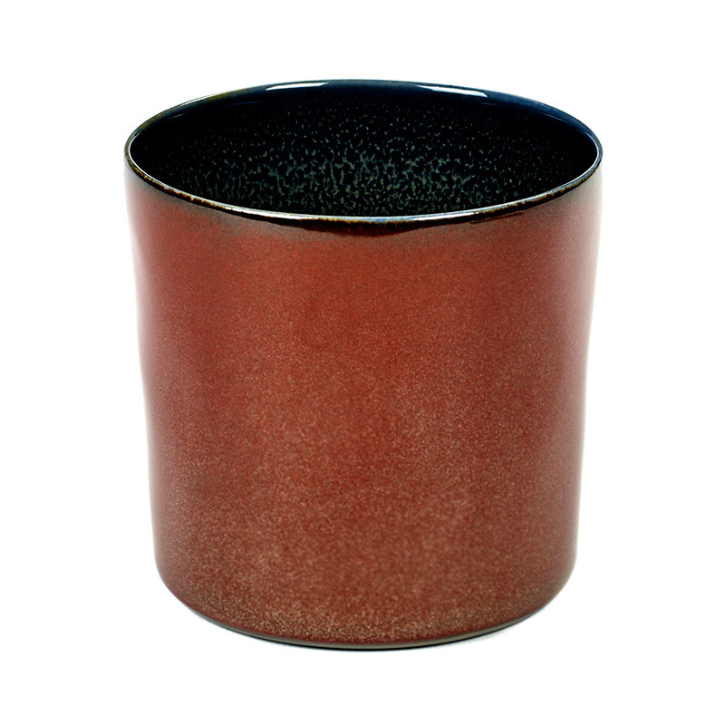Image of   Serax Goblet Cylinder High Dark Blue/Rust