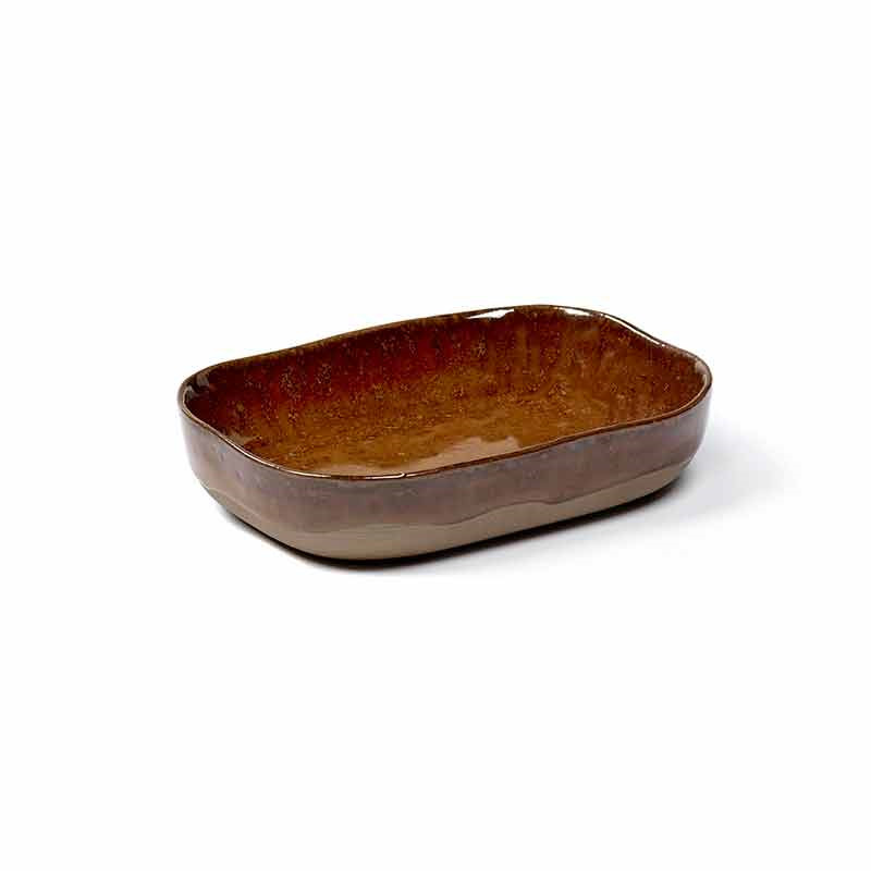 Image of   Serax Merci Deep Plate No. 7 M Ocre/Brown