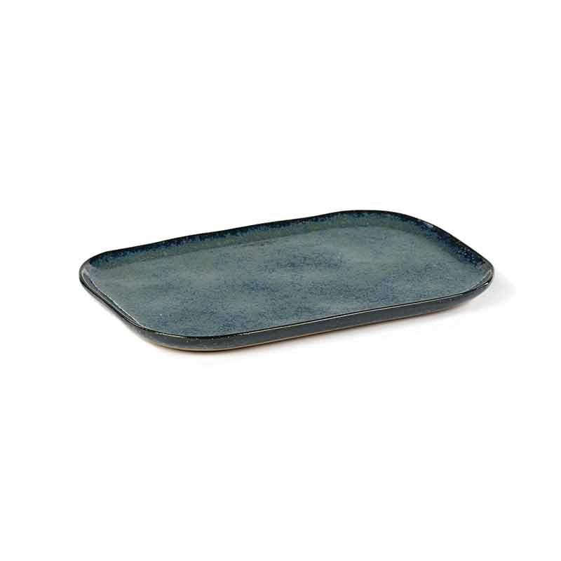 Image of   Serax Merci Rectangular Plate No. 2 L Blue/Grey