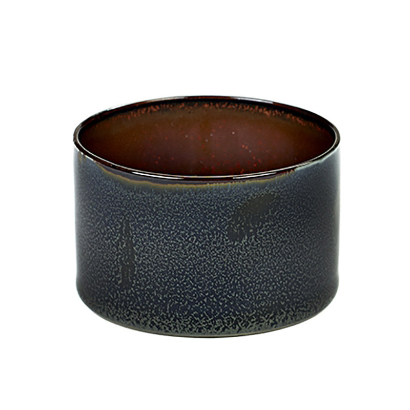 Image of   Serax Goblet Cylinder Low Dark Blue/Rust