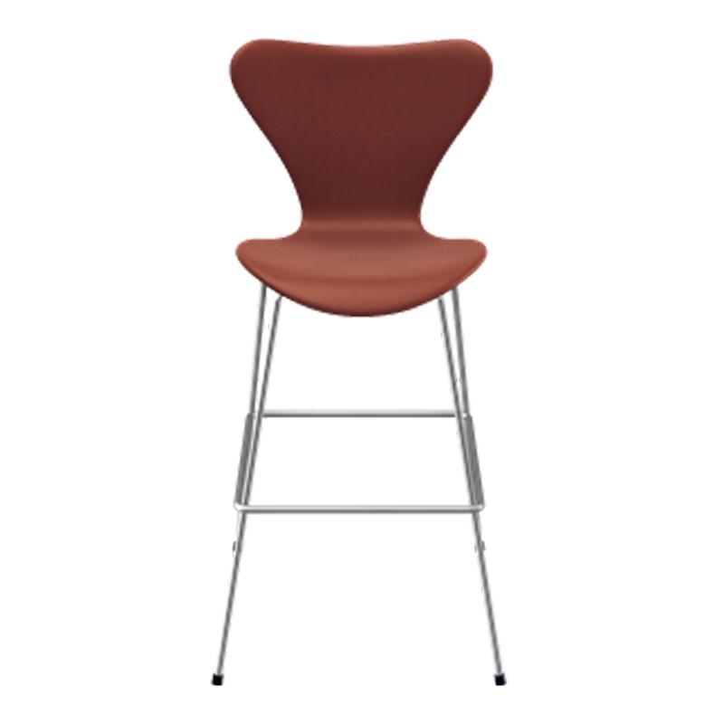Fritz hansen serie 7 høj barstol fuldpolstret læder