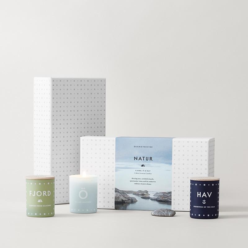 Image of   SKANDINAVISK Natur Candle Set Mini