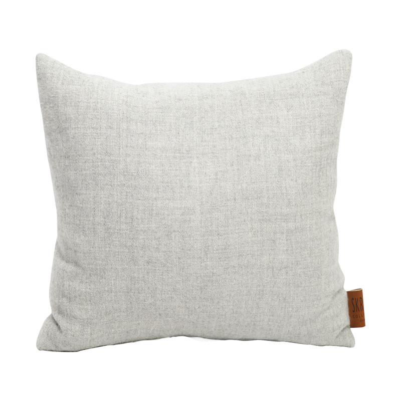 Image of   Skriver Collection Baby Alpaca Cushion Light Grey