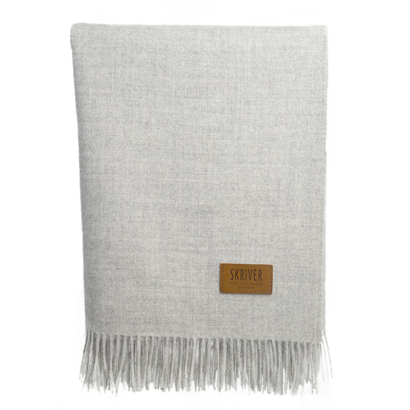 Skriver Collection Baby Alpaca Plaid Light Grey