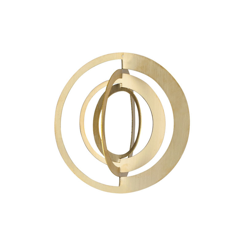 Strups circle ornament brass